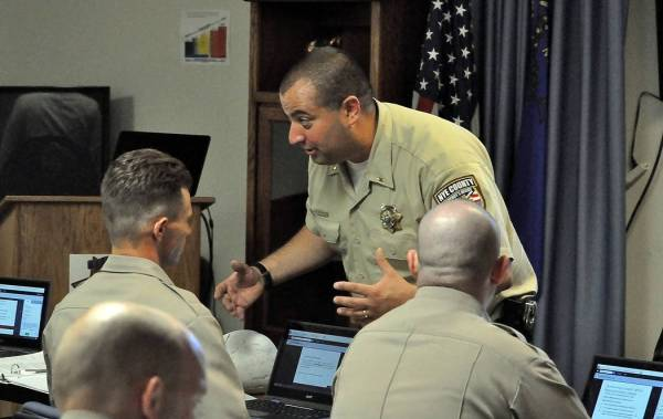 Recruits in Nye County begin training as they seek law