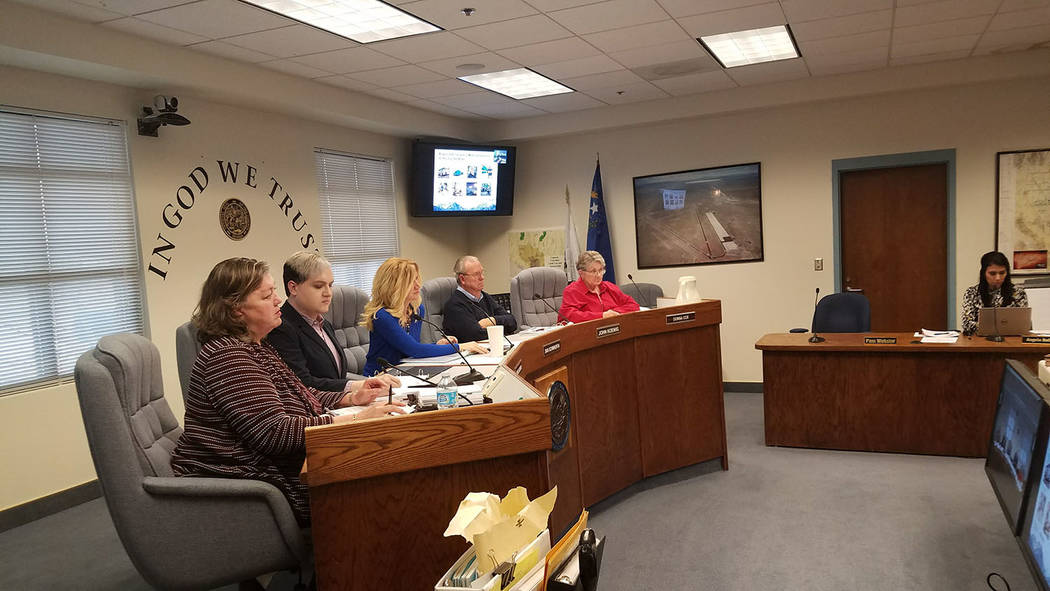 David Jacobs/Pahrump Valley Times The Northern Nye County Hospital District Board of Trustees (shown earlier this year) requested interest and qualifications for professional services of qualified ...