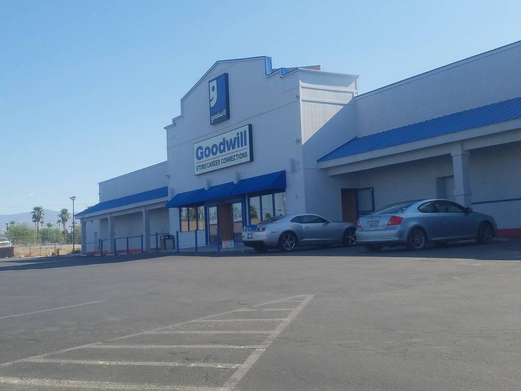 David Jacobs/Pahrump Valley Times  Goodwill Industries of Southern Nevada Inc., parent company to the Goodwill retail store in Pahrump at 1201 S. Loop Road, files for Chapter 11 bankruptcy reorgan ...