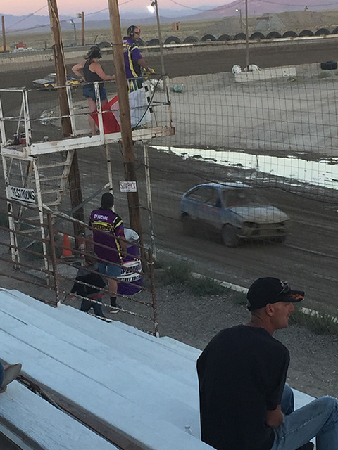 Special to the Pahrump Valley Times  Tanner Otteson runs in the heat races of the Mini Stock Class at the Jim Marsh Classic at the Tonopah Speedway last year.