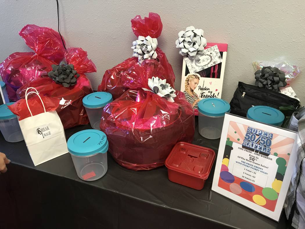 Jeffrey Meehan/Pahrump Valley Times  Shear Image Salon celebrated its one-year anniversary on Aug. 15, 2017. The salon had give-away bags, raffles and food. The celebration lasted four hours, with ...