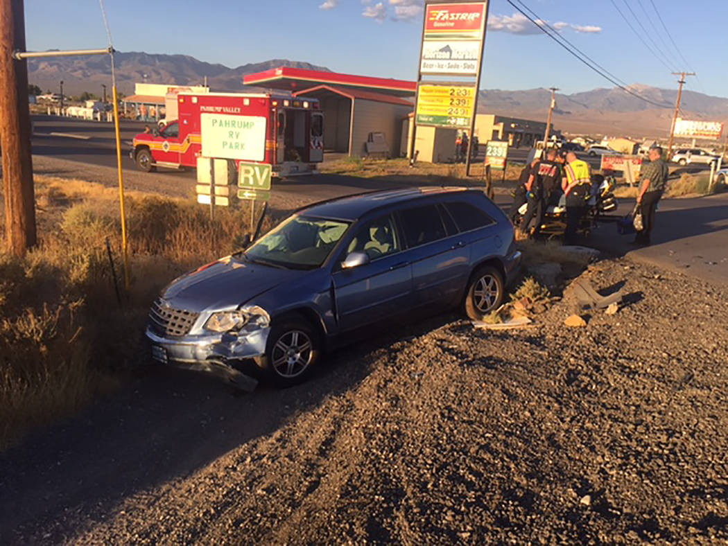 Special to the Pahrump Valley Times Several people were transported to Desert View Hospital on Thursday Aug. 17, following a four-vehicle collision at the intersection of Linda Street and Highway  ...
