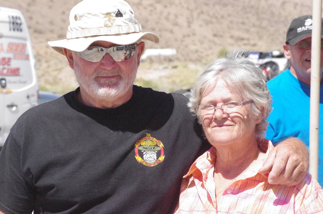 Vern Hee/Pahrump Valley Times Dan and Mary Anderson earned some extra income selling food to hungry racers and race teams at the start. There hot seller was there breakfast burrito, which they sol ...