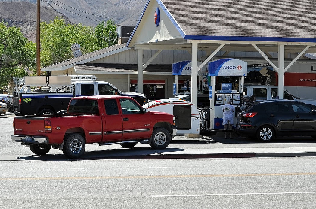 Horace Langford Jr./Pahrump Valley Times -  Vegas to Reno race teams and racers jammed all the gas stations and hotels in the town. The Beatty Chamber of Commerce reported the 350 hotel rooms in t ...