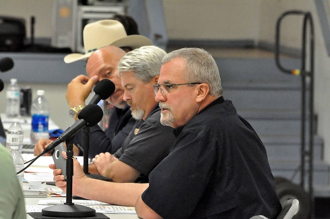 Horace Langford Jr./Pahrump Valley Times -   At the Aug. 17 Nevada Site Specific Advisory Board meeting in Pahrump, Vance Payne, director of Nye County Emergency Services announced that RadWatch p ...