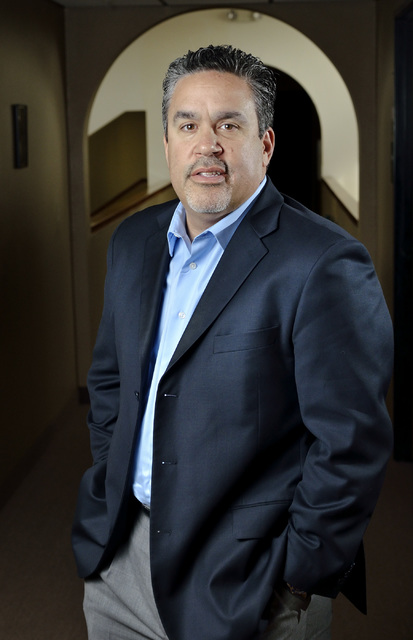 Bill Hughes/Las Vegas Review-Journal Peter Guzman, executive director of The Valley Center Opportunity Zone, is shown outside of his office at the Latin Chamber of Commerce building at 300 N. 13th ...