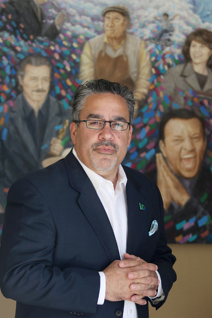 Ronda Churchill/Las Vegas Review-Journal Peter Guzman, president of the Latin Chamber of Commerce, stands for a photograph at the Latin Chamber of Commerce Tuesday, July 19, 2016, in Las Vegas.