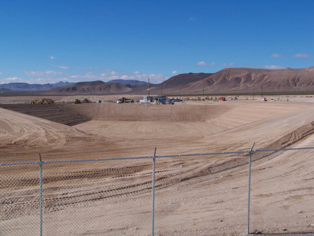Special to the Pahrump Valley Times Shown in the photo is a complete mixed low level waste disposal cell 18 at the Nevada National Security Site. On July 18, the Nevada Division of Environmental P ...