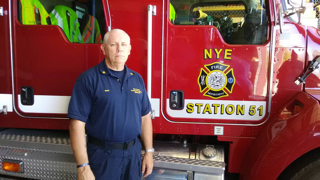Selwyn Harris/Pahrump Valley Times  Nye County Technical Response Division Chief Rich Flanagan is seeking volunteer firefighters at Station 51. Candidates must be at least 18 years of age with a h ...