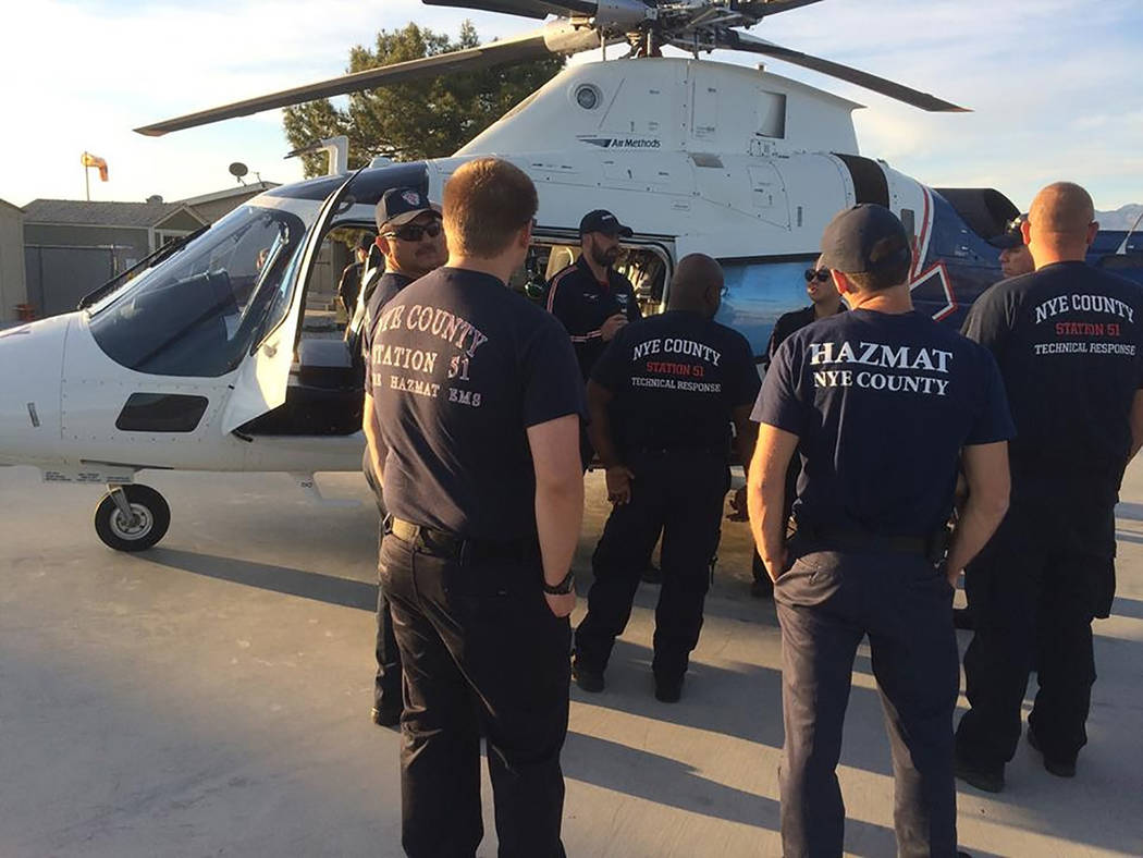 Special to the Pahrump Valley Times Mercy Air crews work with members of Nye County Technical Response team from time to time while responding to area service calls. Both agencies routinely share  ...