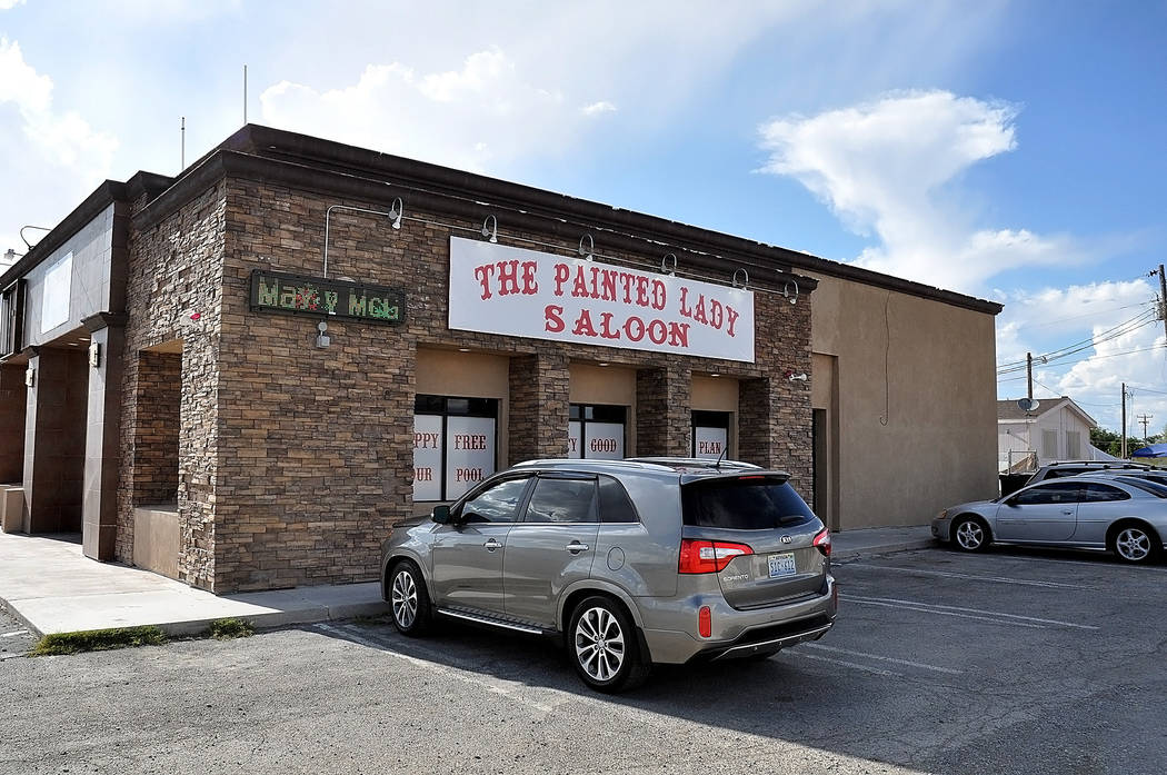 Horace Langford Jr./Pahrump Valley Times  The Painted Lady Saloon is one of the few bars that the Pahrump Valley Times could find in town that is showing the Mayweather-McGregor fight on Saturday. ...