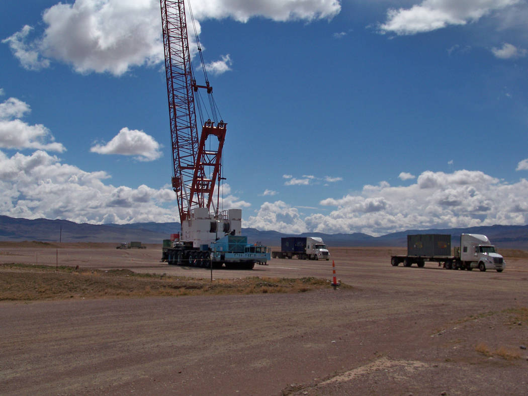 Special to the Pahrump Valley Times  Shown in this photo are disposal activities at the Area 5 Radioactive Waste Management Complex at the Nevada National Security Site.