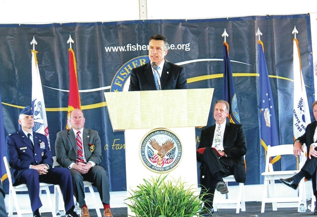 Chuck N. Baker/Special to the Pahrump Valley Times Gov. Brian Sandoval, as shown in this 2016 photo, explained that the Fisher House would help Nevada in its goal to be the most friendly veterans  ...