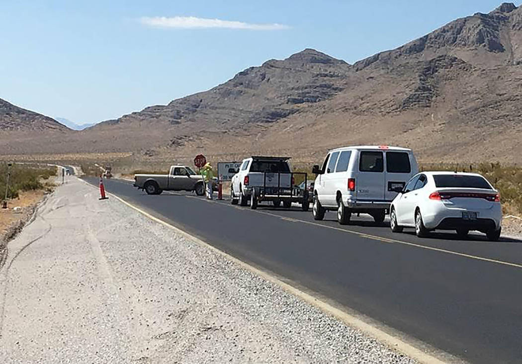 Nevada Department of Transportation Traffic restrictions are required as part of a $8.7 million 14-mile upgrade of Highway 160 between East Basin Avenue to just north of Bell Vista Avenue in Pahrump.