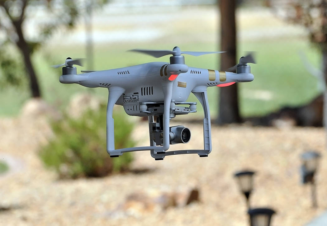 Horace Langford Jr./Pahrump Valley Times -  Ronald Boskovich started flying a drone for fun, and later was approached by several people who asked him to do it commercially. Boskovich, who is a lic ...