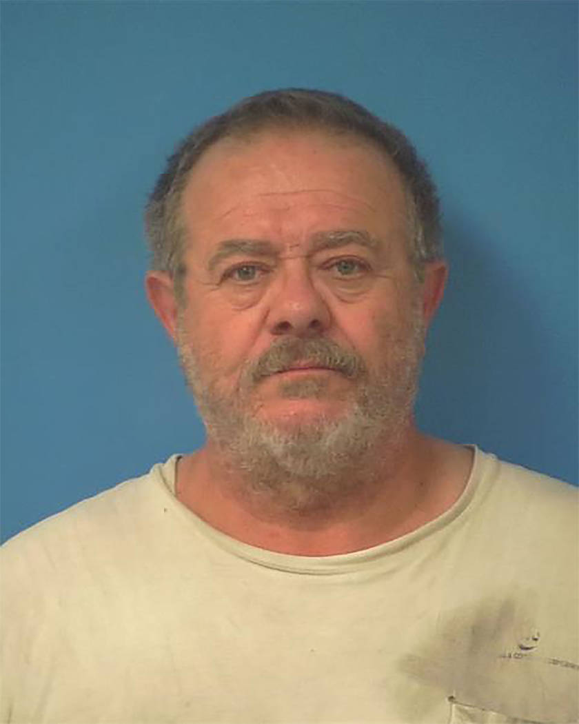 Nye County Sheriff's Office A Pahrump man, identified by authorities as Frank Eugene Casey, 63, was arrested and taken into custody on charges, including first-degree arson.