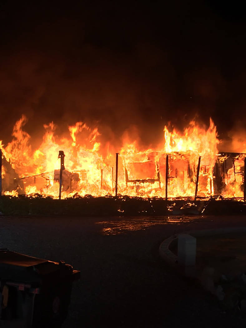 Special to the Pahrump Valley Times Fire crews got off to an early start on Monday Aug. 28, as they responded to a reported structure fire along the 3700 block of North Point Drive. Crews quickly  ...