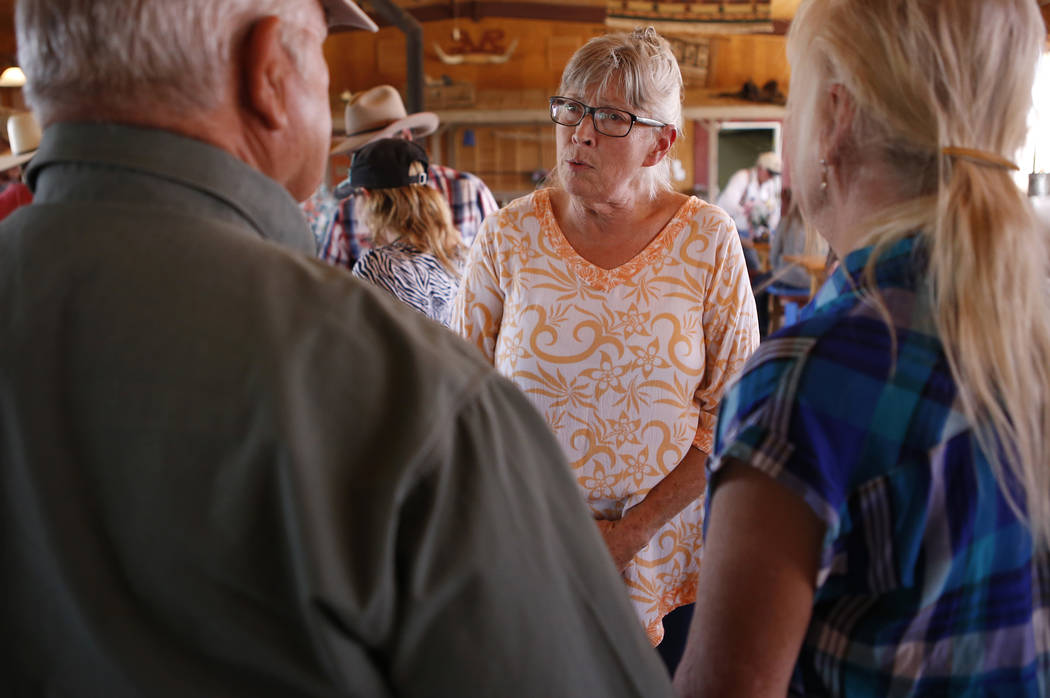 Goodsprings Justice of the Peace Dawn Haviland speaks to supporters at Sandy Valley Ranch on April 22, 2017, in Sandy Valley, California. Christian K. Lee Las Vegas Review-Journal @chrisklee_jpeg