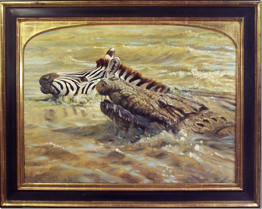 """Special to the Pahrump Valley Times """"Dangerous Crossing"""" by Grant Hacking. He was born in Petersburg, South Africa and traveled extensively with his artist father while developing a keen eye for d ..."""