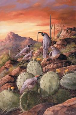 Special to the Pahrump Valley Times Painting by Trevor Swanson. Swanson has the unique ability to translate on canvas the true Arizona landscape and wildlife.