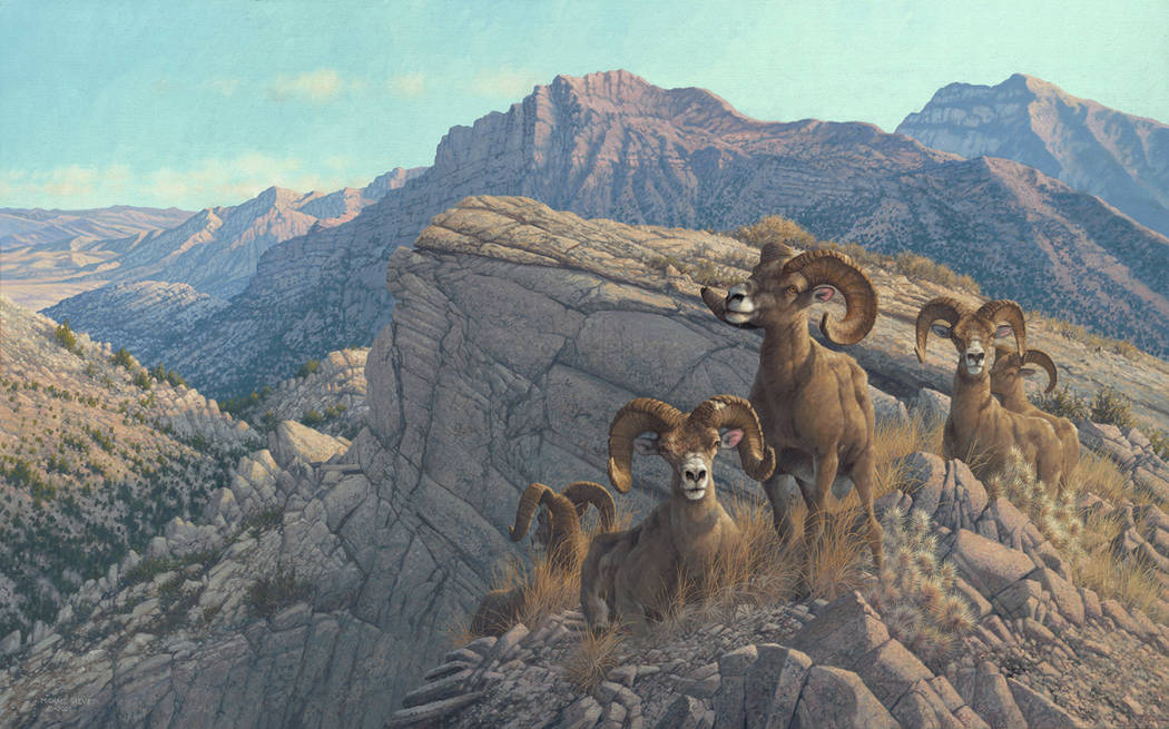 """Special to the Pahrump Valley Times """"Desert Kings"""" by Michael Sieve. In his column, Dan Simmons explains what inspired this painting."""