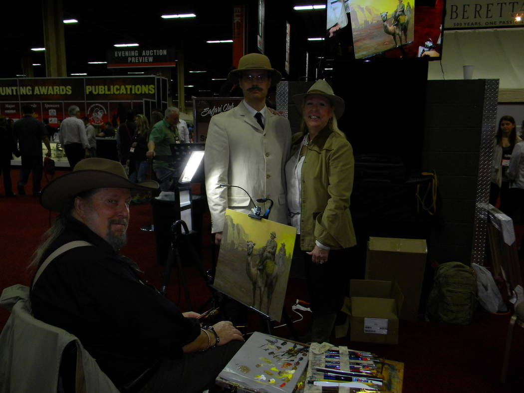Special to the Pahrump Valley Times Theodore Roosevelt by John Seerey-Lester. Seerey-Lester is among the wildlife artists who have attracted the attention of columnist Dan Simmons.