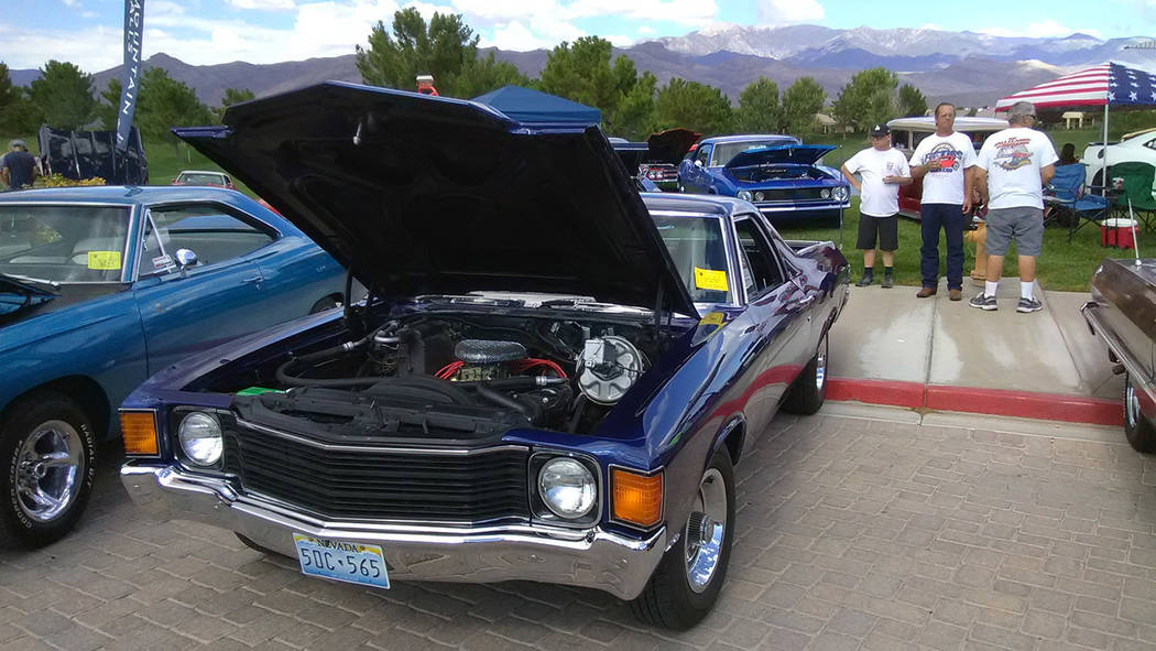Selwyn Harris/Pahrump Valley Times  25-year Pahrump resident Don Hartwick attended the show with his wife Diane Maxey. Both showed off a fully restored 1972 Ford El Camino. Saturday was the first  ...
