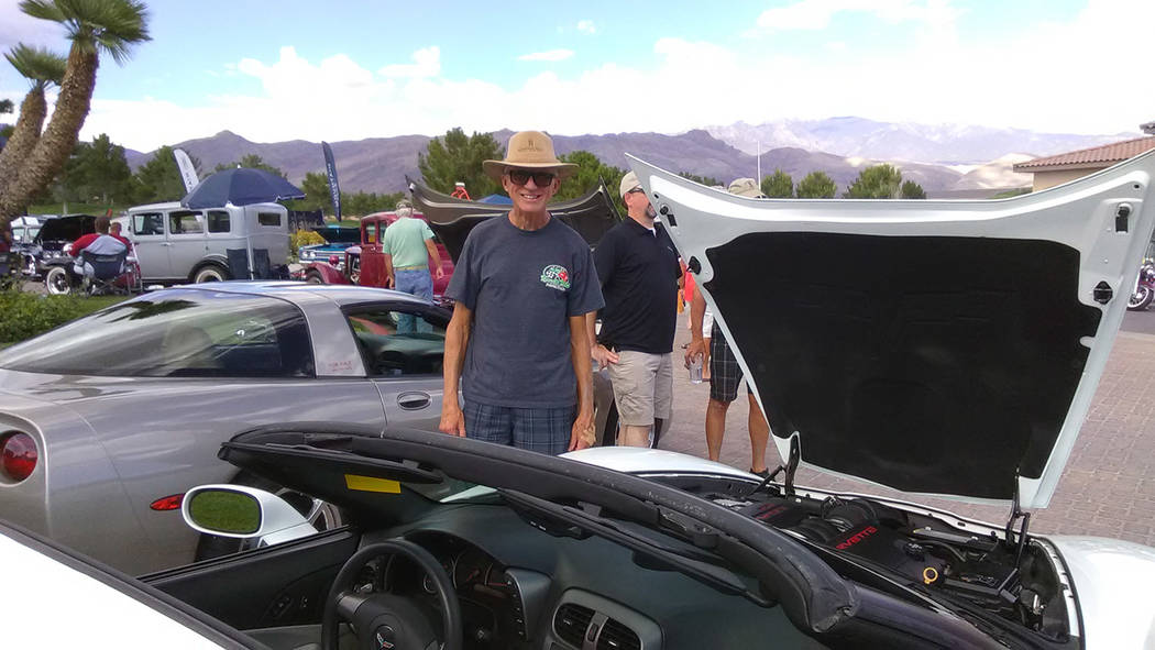 Selwyn Harris/Pahrump Valley Times Pahrump resident Robert Schoenhofen was showing off his 2007 Chevy Corvette. He called the car 'bulletproof,' due to it's tenacious engine and solid handling.