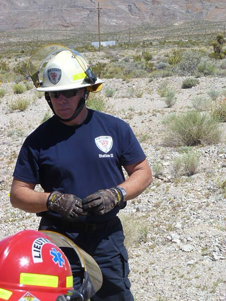 Special to the Pahrump Valley Times Nye County Technical Response Station 51 Division Chief Rich Flanagan will spend several weeks in northern Nevada assisting agencies fighting an out of control  ...
