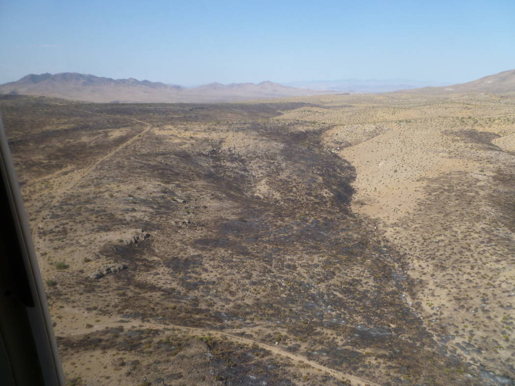 Special to the Pahrump Valley Times  According to the press release, a wildfire at the Nevada National Security Site covered an estimated 2,500 acres and believed to have been sparked Monday after ...