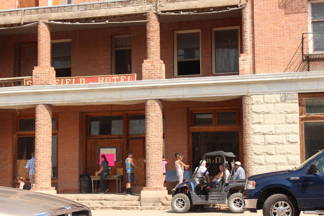 Jeffrey Meehan/Times-Bonanza & Goldfield News The Goldfield Hotel from its west-side entrance on Columbia Avenue. The property, which sits at Columbia Avenue and U.S. Highway 95 in Goldfield,  ...