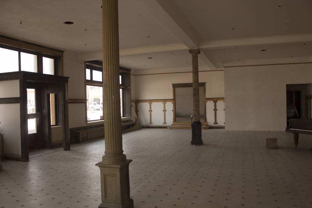 Jeffrey Meehan/Times-Bonanza & Goldfield News The lobby of the Goldfield Hotel on Aug. 5, 2017. Cleaning crews have been cleaning the property since the summer of 2017, preparing for further r ...