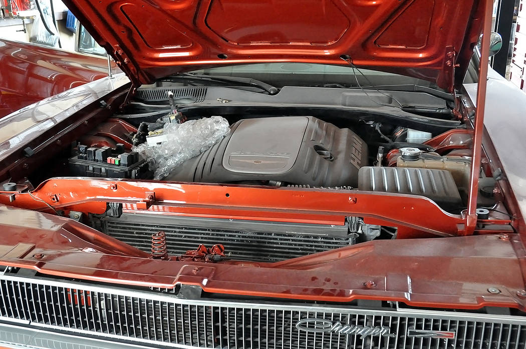 Horace Langford Jr./Pahrump Valley Times -  A car that Marcel Martel will be showing off at the car show. Why so special? Hint: The engine seen in this car is from a later model car.