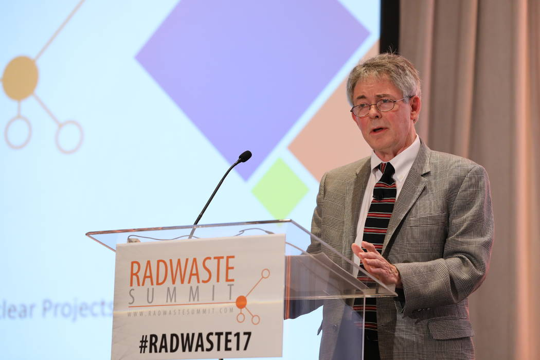 """Special to the Pahrump Valley Times Nevada Agency for Nuclear Projects Executive Director Bob Halstead speaks during the panel """"Yucca Mountain Restart"""" during the 2017 Radwaste Summit on Wednesday ..."""