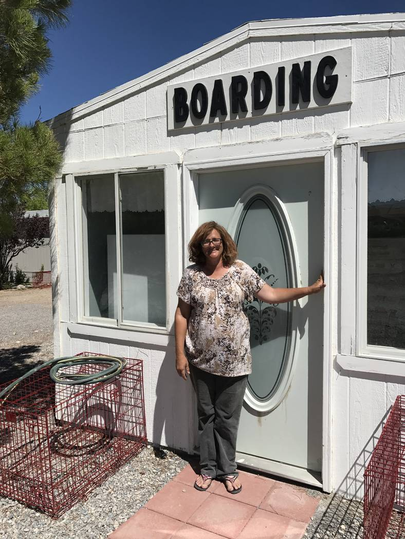Jeffrey Meehan/Pahrump Valley Times Peggy Sanders, who heads up Pets are Worth Saving, a local group that tries to place local cats and dogs in new homes, has leased a space for training and holdi ...
