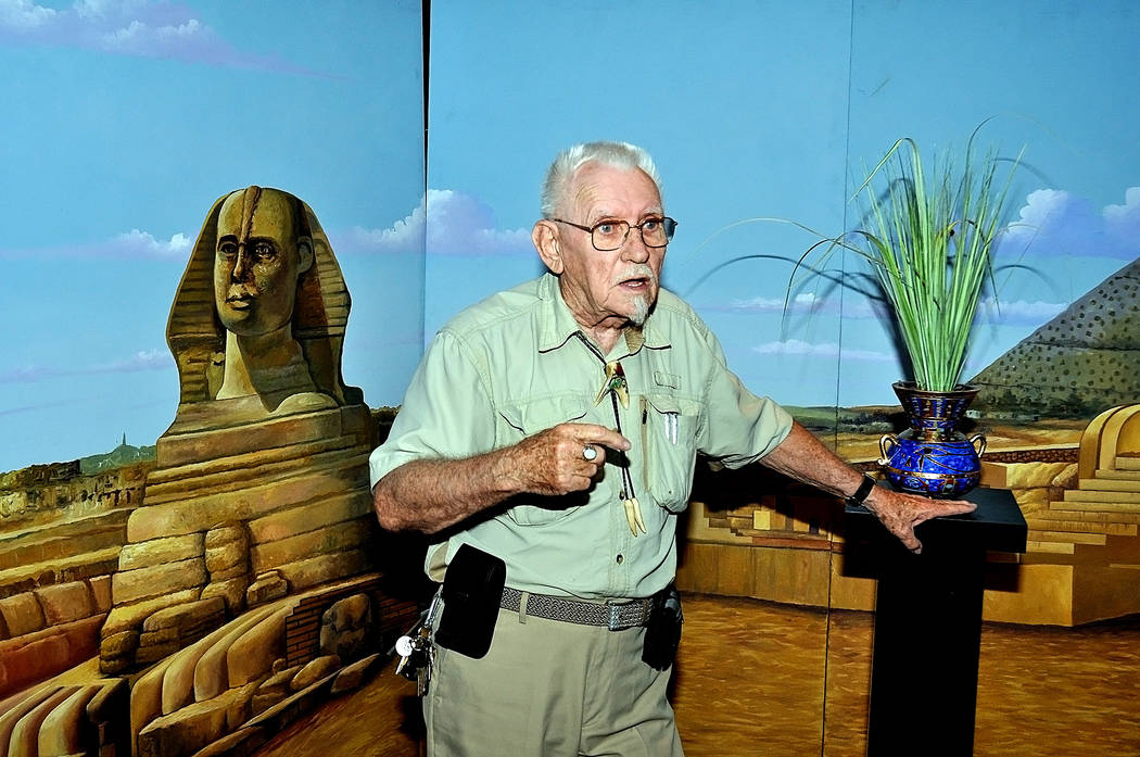 """Horace Langford Jr./Pahrump Valley Times - Dr. Peter J. Shield will rent the castle on the corner of Highway 160 and Homestead Road. The mall will also have a wedding chapel called """"The Temple o ..."""