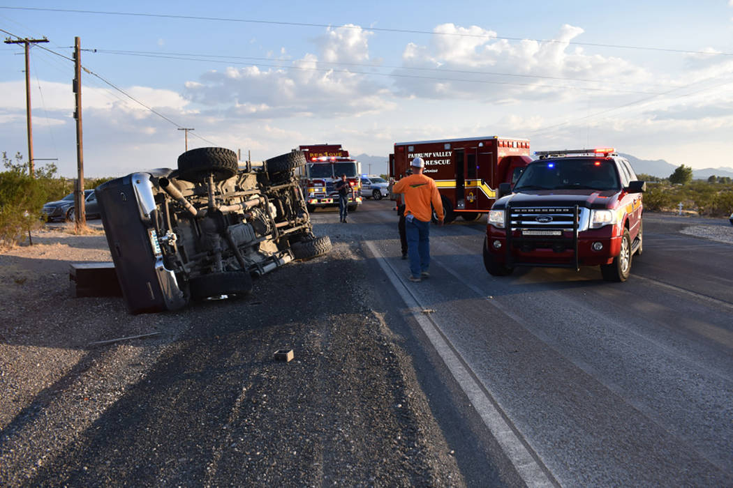 Special to the Pahrump Valley Times  At least three patients were transported to Desert View Hospital after a multi-vehicle collision along Highway 160 and Blosser Ranch Road on Thursday, Sept. 7. ...