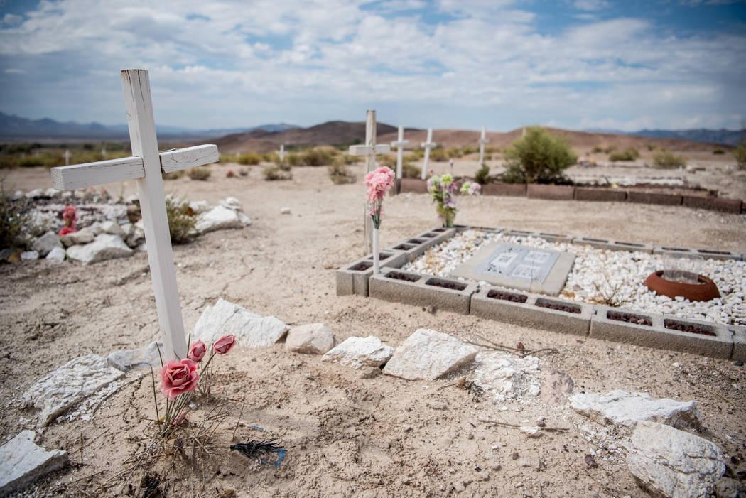 Tecopa Cemetery on Tuesday, July 25, 2017, in Tecopa, California. (Morgan Lieberman/Las Vegas Review-Journal)