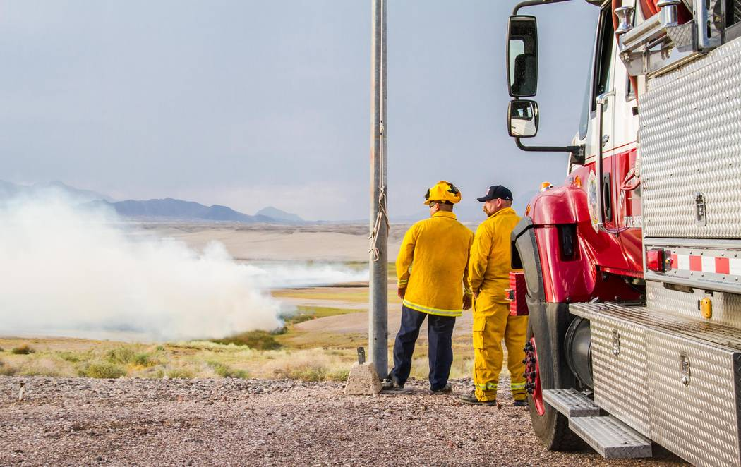 Nancy Good Special to the Pahrump Valley Times A brush fire in Tecopa was responded to by Pahrump Valley Fire-Rescue on Sept. 11, 2017. Fire crews brought a tender and brush engine to the scene of ...