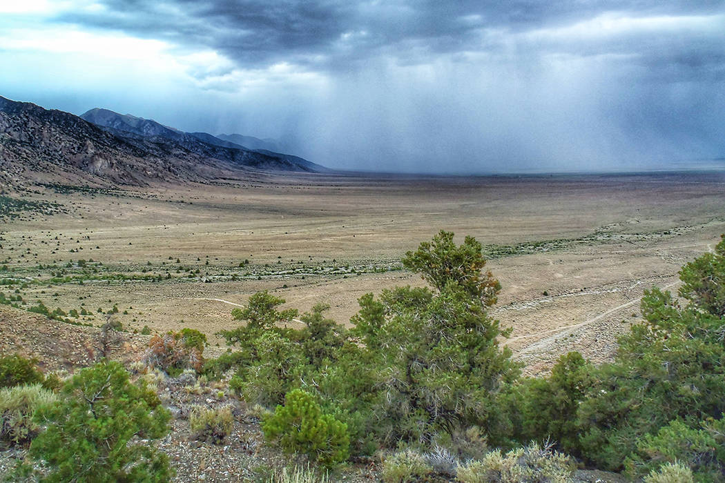 Special to the Pahrump Valley Times A storm moves through Big Smoky Valley in Central Nevada. The Center for Biological Diversity and the Sierra Club filed a lawsuit on Monday challenging the Bure ...