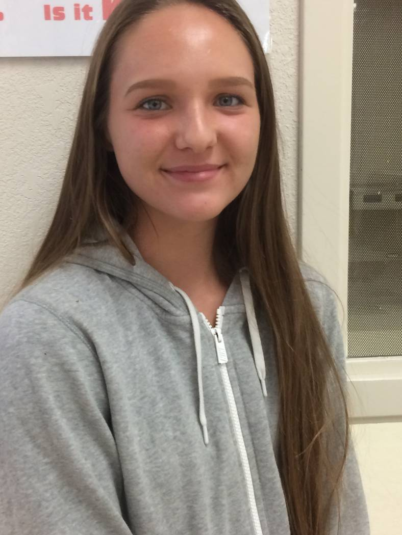 Junior Jackie Stobbe loves sports in general and currently plays three of them at Pahrump Valley High School this year.