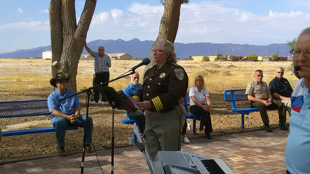 Selwyn Harris/Pahrump Valley Times Nye County Sheriff Sharon Wehrly recalled how much the country changed in the aftermath of the September 11, 2001 attacks, 16 years ago.