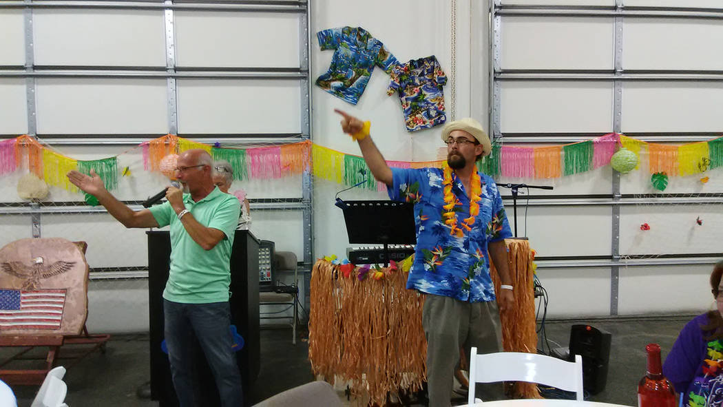 Selwyn Harris/Pahrump Valley Times Auctioneers Ski and Ron solicit bids from audience members. Not only did the duo raise thousands of dollars for the Casa program, they also provided good enterta ...