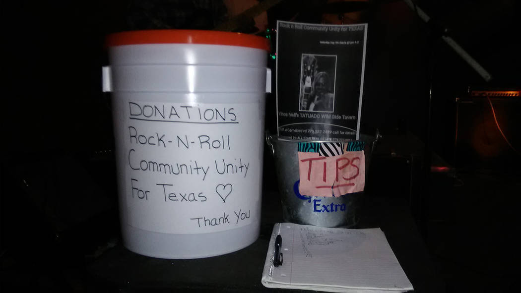 Selwyn Harris/Pahrump Valley Times  More than $600 was raised during Saturday's Hurricane Harvey fundraiser. All proceeds will go directly to the American Red Cross.