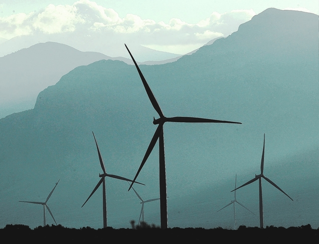 Jason Bean/Las Vegas Review-Journal The Spring Valley Wind Farm as seen in the north Spring Valley near Great Basin National Park in eastern Nevada as shown in a 2014 photo.