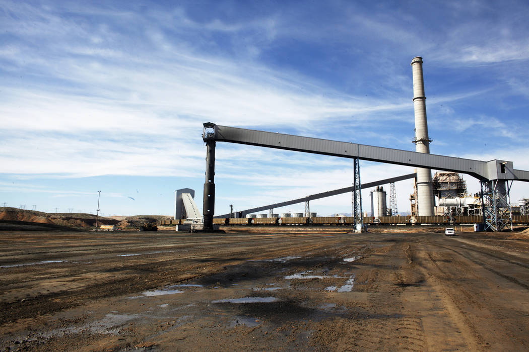 Rachel Aston/Las Vegas Review-Journal The coal stack at the Reid Gardner Generating Station on Thursday, March 16, 2017, in Moapa, Nev.  The generating station was shut down earlier this year.