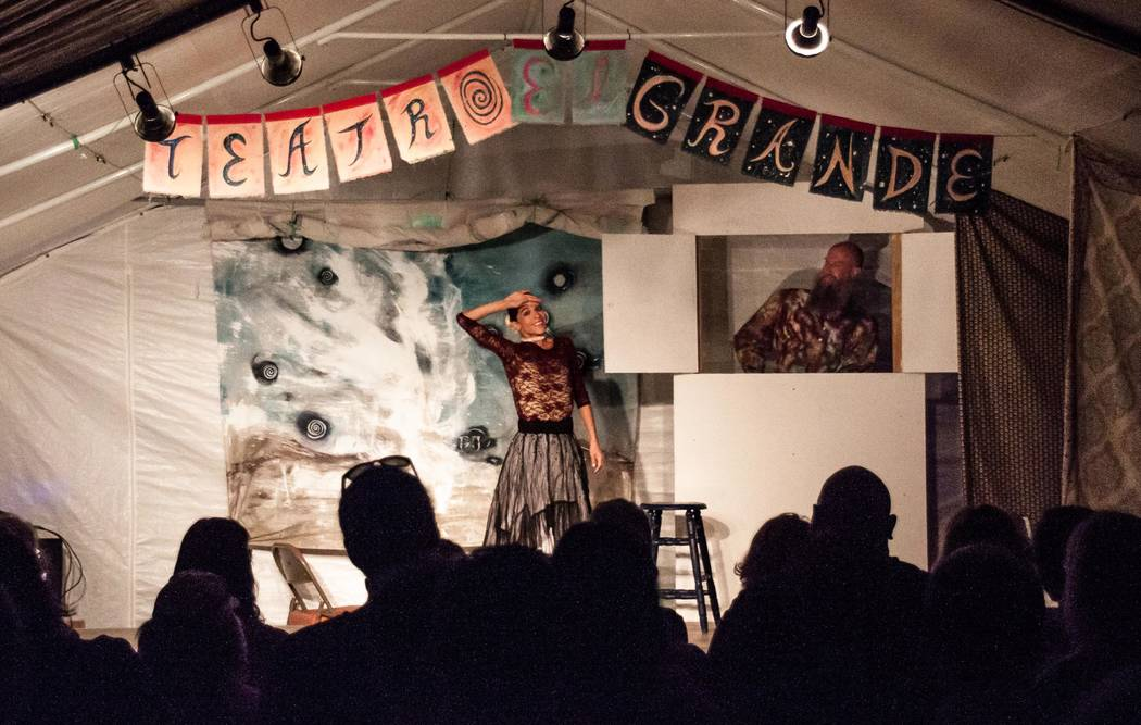 Nancy Good/Special to the Pahrump Valley Times Teatro El Grande's Circus of Fine Arts has set several dates for September and early part of October in Tecopa. The performances will be held in th ...