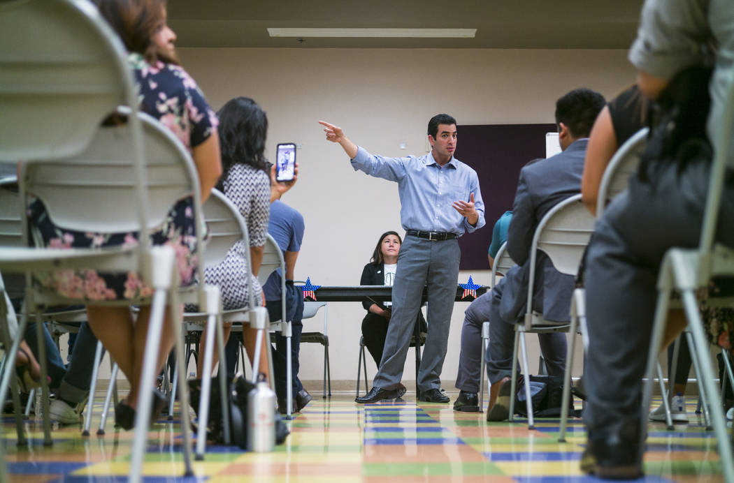Chase Stevens Las Vegas Review-Journal U.S. Rep. Ruben Kihuen, D-Nev., speaks during a panel event held by Latinos Unidos at Pearson Community Center in North Las Vegas on Thursday, Aug. 31, 2017.