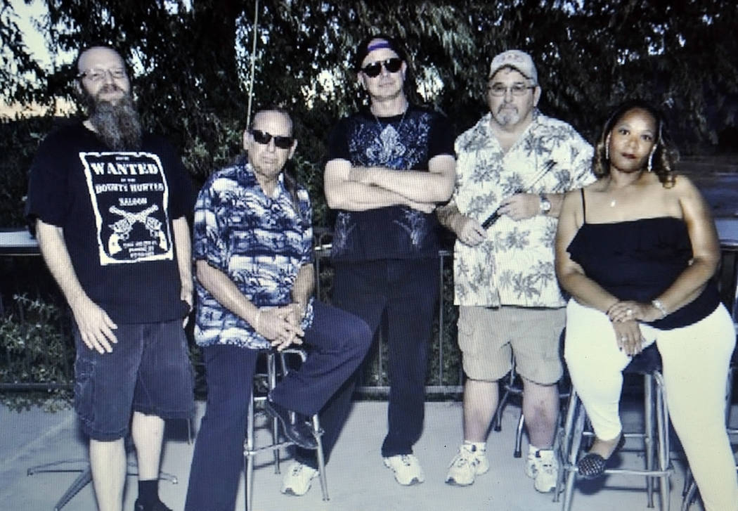 Elena Cordero-Arms / Special to the Pahrump Valley Times The band, Incognito, from left to right: Daryl Keppner, bass guitar; Rick Garza, founder; Gary Fox, guitar; Jerry Carter on drums and Diane ...
