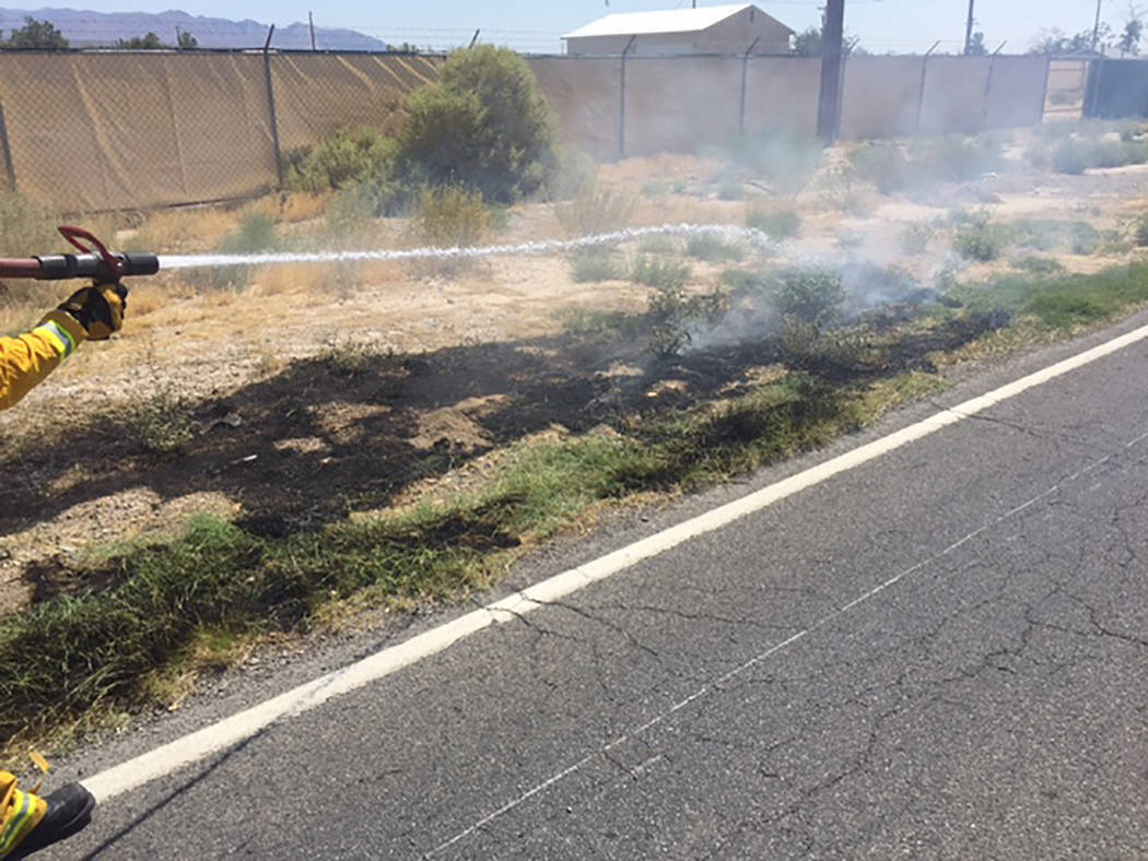 Special to the Pahrump Valley Times  Brush and structure fires dominated the service calls for Pahrump Valley Fire and Rescue crews over the past week. One person was medically evaluated for smoke ...